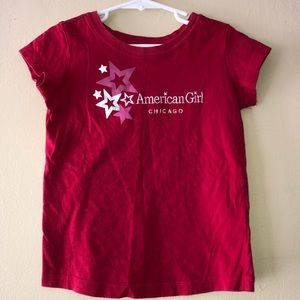 American Girl Red Short Sleeve Shirt size S 7/8